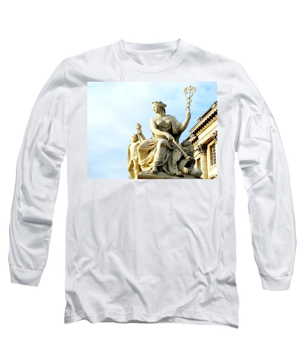 Statues Long Sleeve T-Shirt featuring the photograph Healing by Amanda Barcon