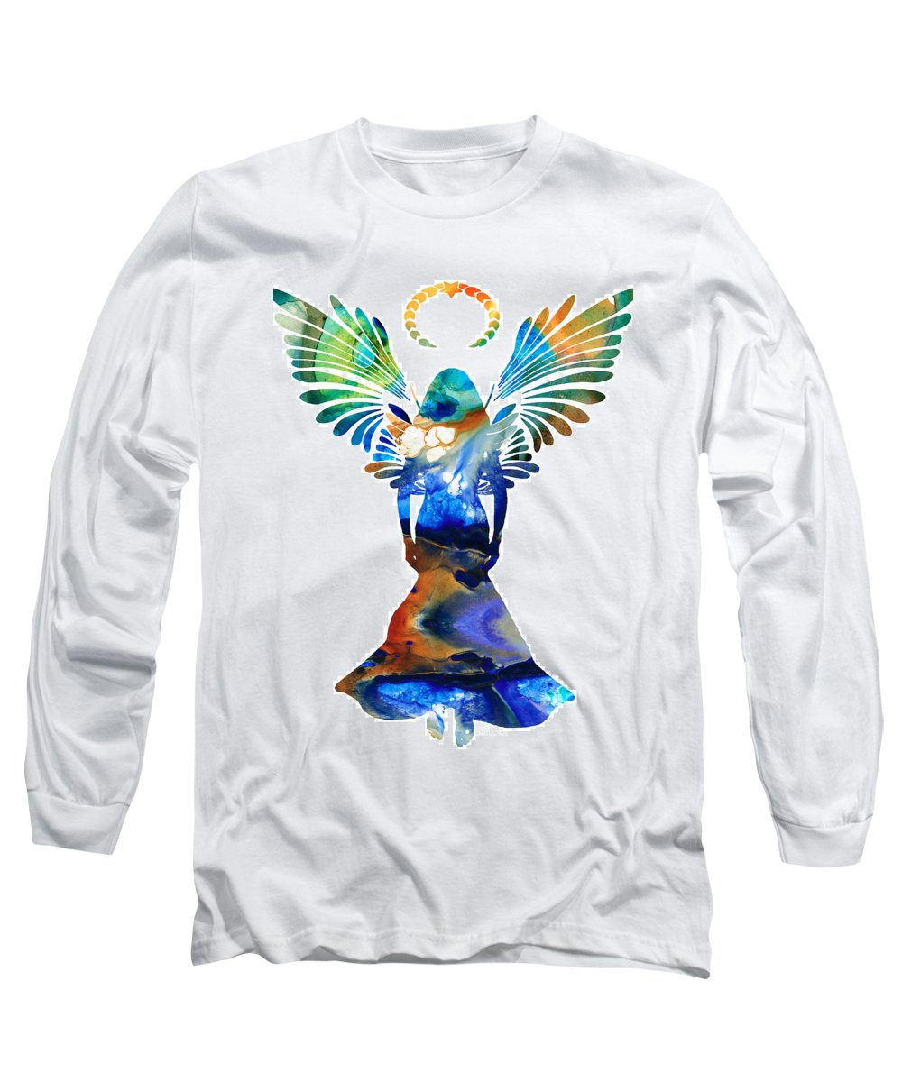 Angel Of Mercy Paintings Long Sleeve T-Shirts