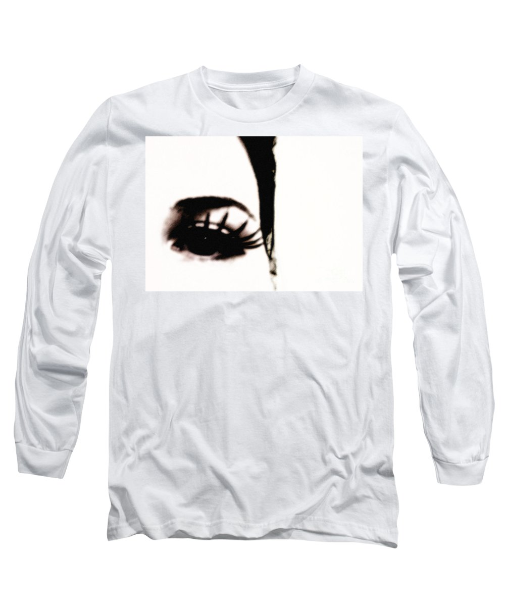 Eye Long Sleeve T-Shirt featuring the photograph Hello by Amanda Barcon