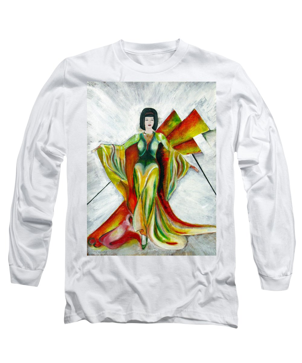 Dress Long Sleeve T-Shirt featuring the painting Here Comes The Sun by Tom Conway