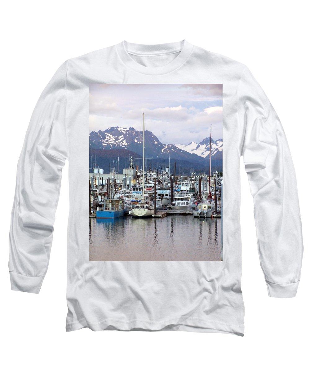Homer Alaska Long Sleeve T-Shirt featuring the photograph Homer Harbor by Marty Koch