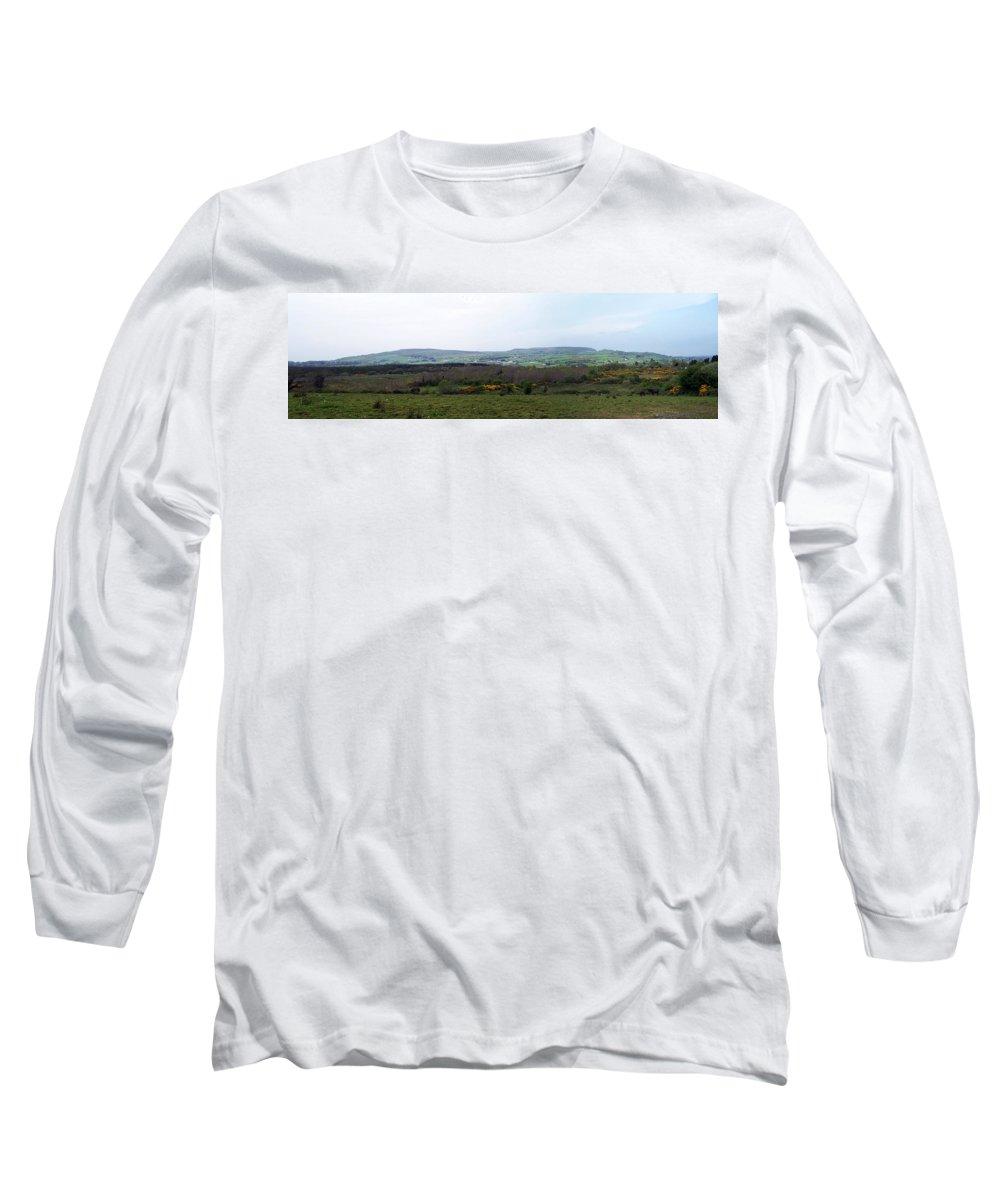 Ireland Long Sleeve T-Shirt featuring the photograph Horses At Lough Arrow County Sligo Ireland by Teresa Mucha