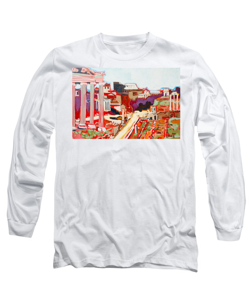 Rome Long Sleeve T-Shirt featuring the painting Il Foro Romano by Kurt Hausmann