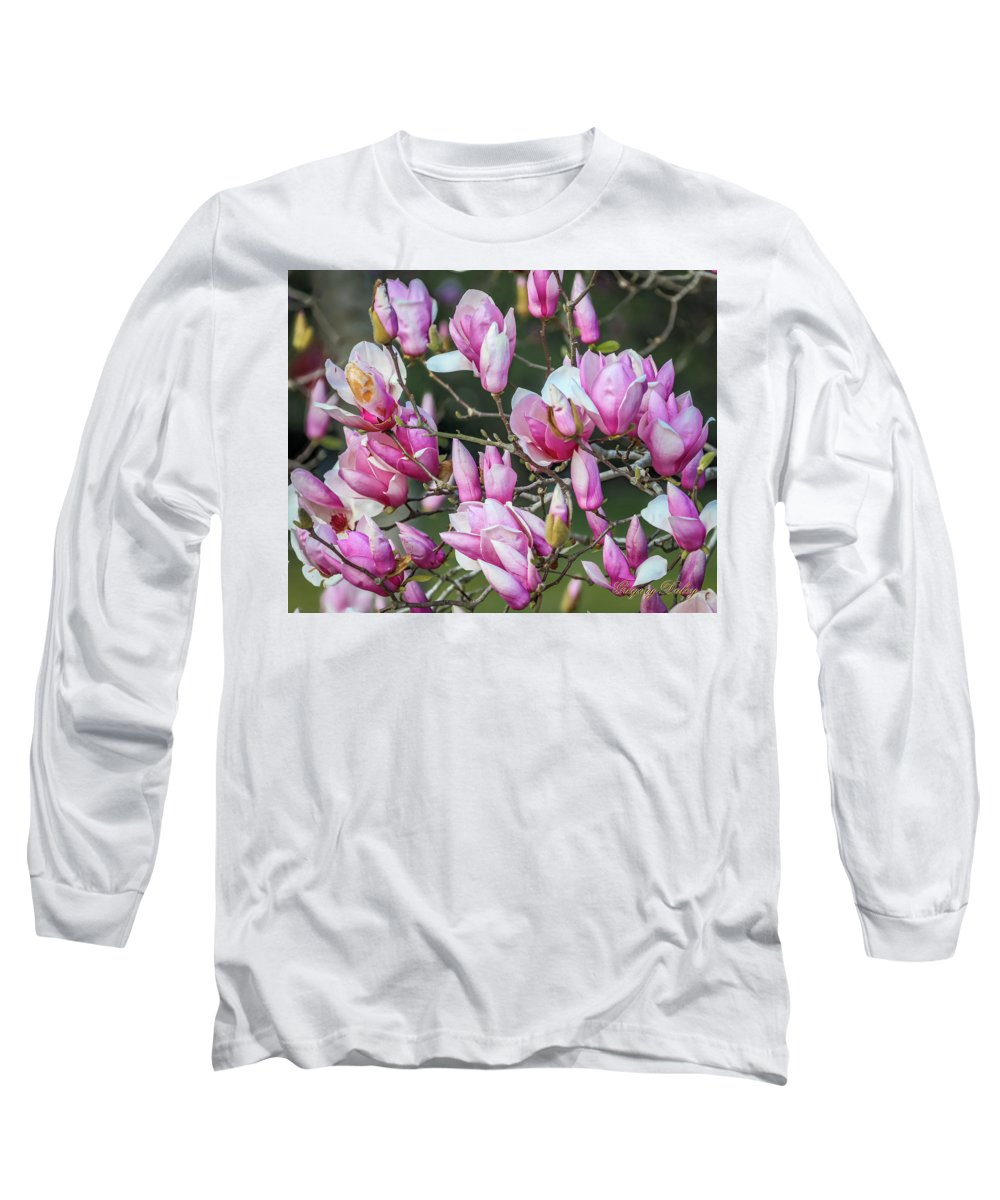 Flowers Long Sleeve T-Shirt featuring the photograph Japanese Blooms by Gregory Daley MPSA