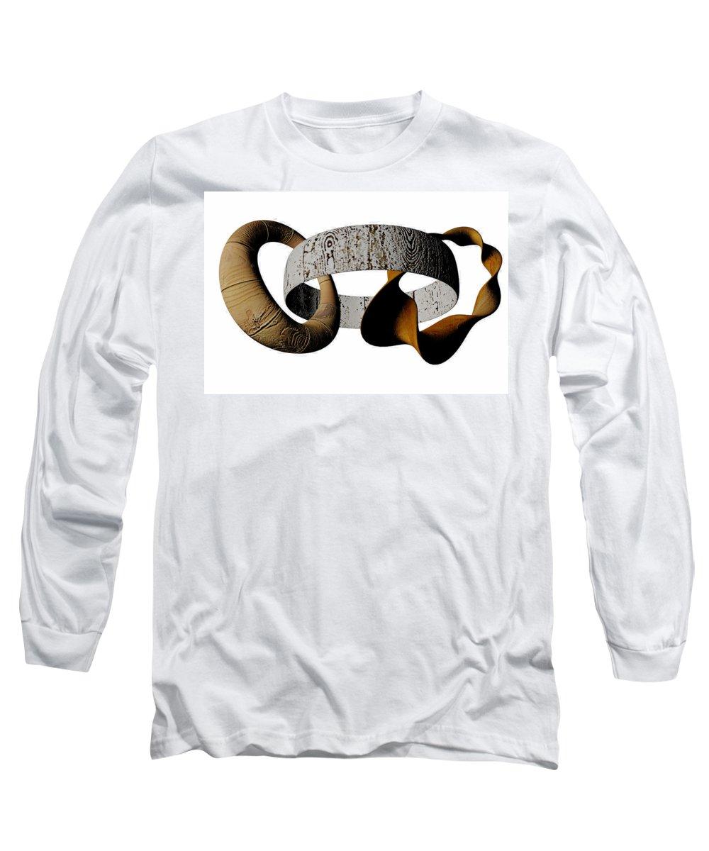 Circle Long Sleeve T-Shirt featuring the digital art Join Circles by R Muirhead Art