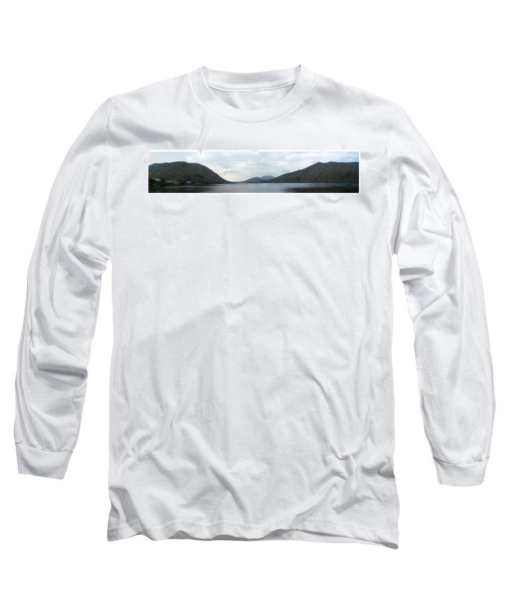 Landscape Long Sleeve T-Shirt featuring the photograph Killary Harbour Leenane Ireland by Teresa Mucha