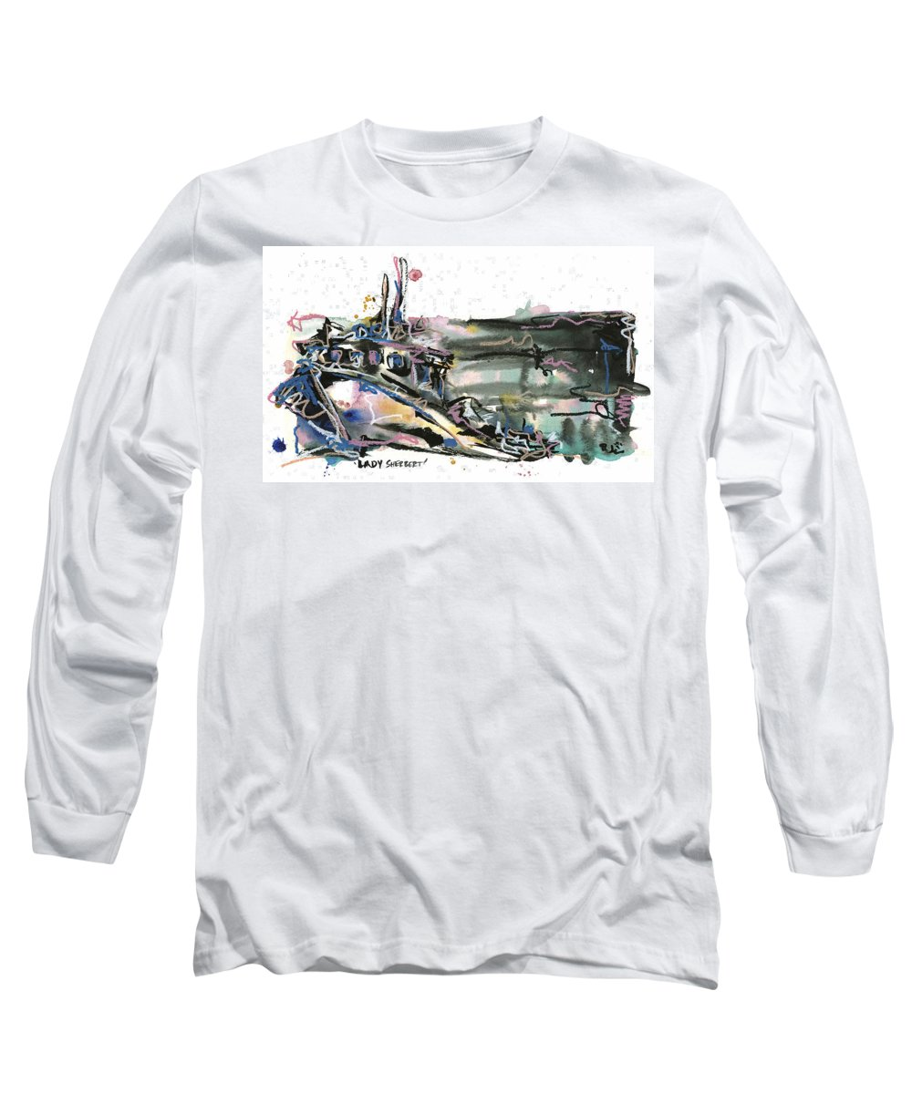 Seascape Long Sleeve T-Shirt featuring the painting Lady Sherbert by Robert Joyner