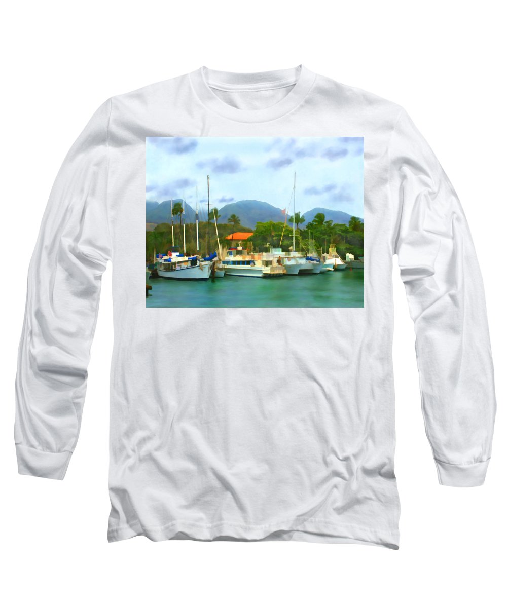 Lahina Long Sleeve T-Shirt featuring the photograph Lahina Harbor by Kurt Van Wagner