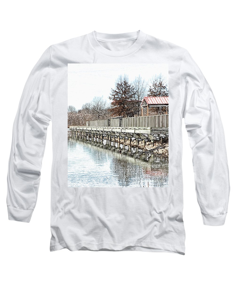 Lakes Long Sleeve T-Shirt featuring the photograph Lake by Amanda Barcon