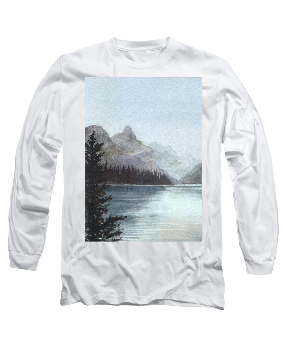 Watercolor Long Sleeve T-Shirt featuring the painting Lake Helevorn by Brenda Owen
