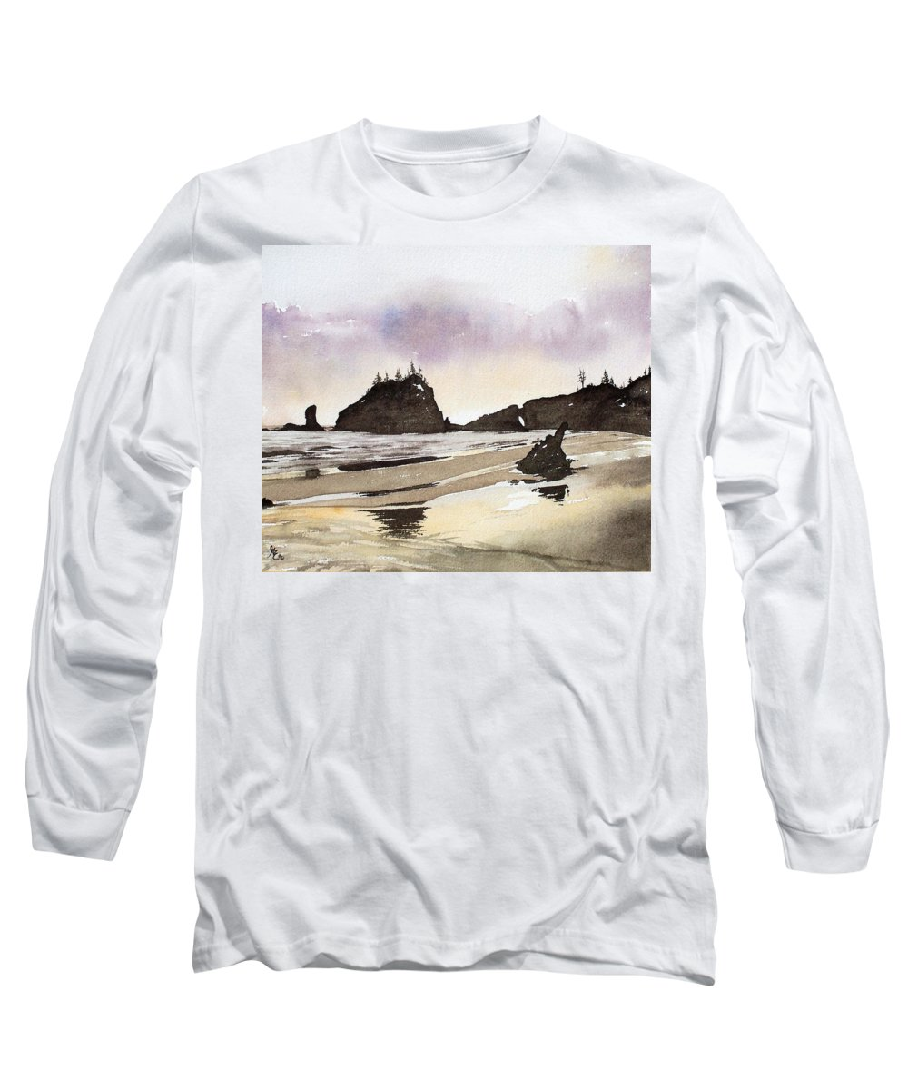 Washington Long Sleeve T-Shirt featuring the painting Lapush by Gale Cochran-Smith