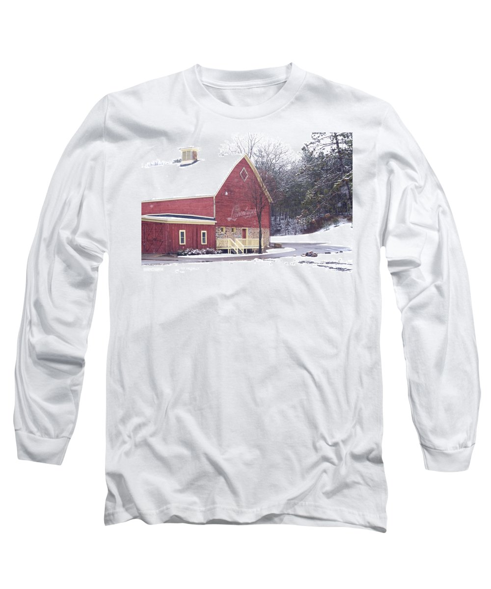Barn Long Sleeve T-Shirt featuring the photograph Leinie by Tim Nyberg