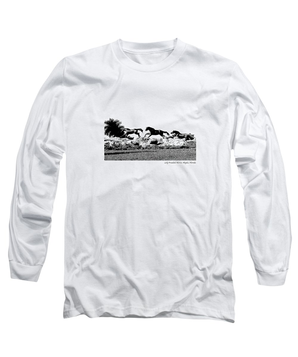 Horse Long Sleeve T-Shirt featuring the photograph Lely Horses by Laurie Paci