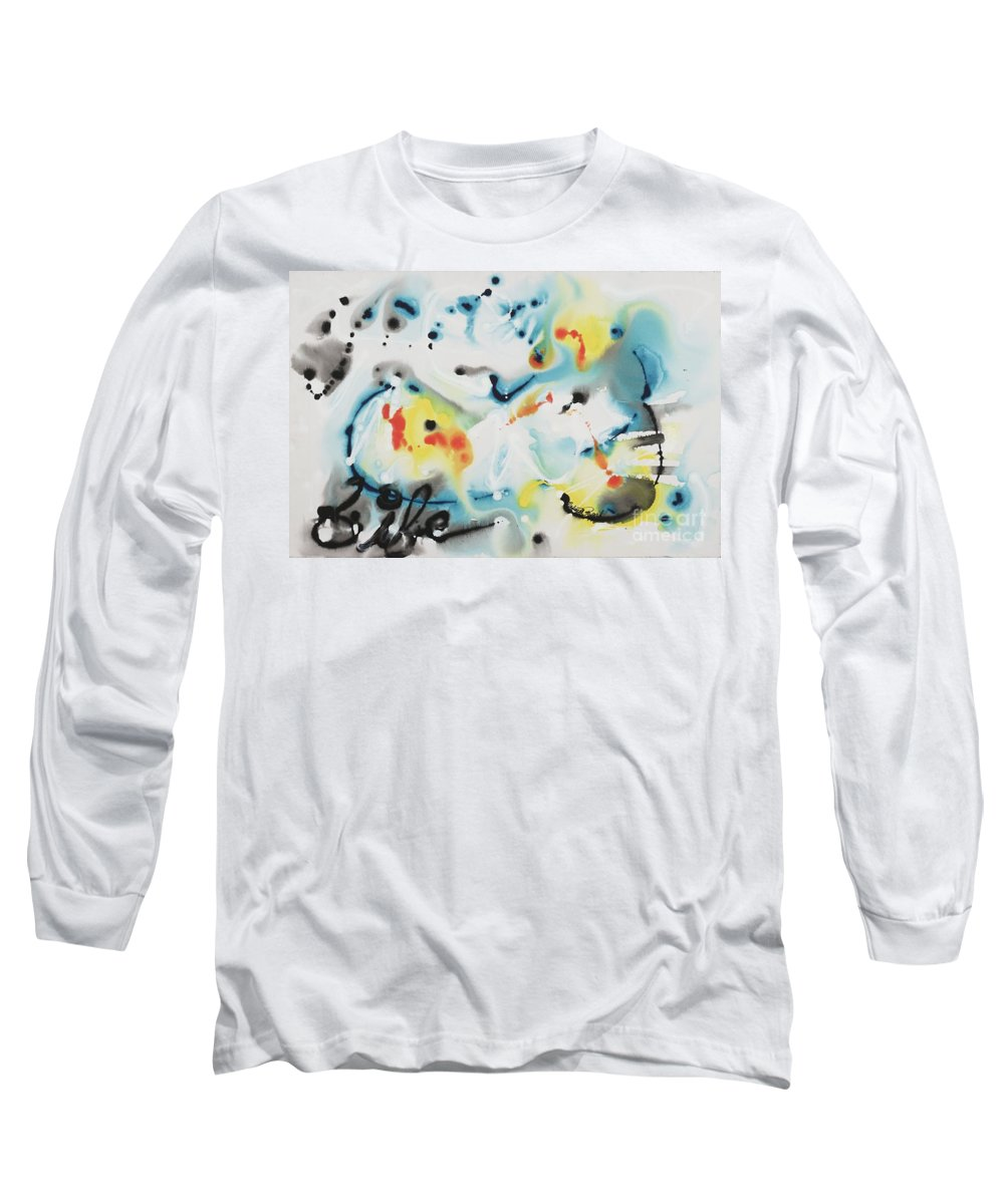 Life Long Sleeve T-Shirt featuring the painting Life by Nadine Rippelmeyer
