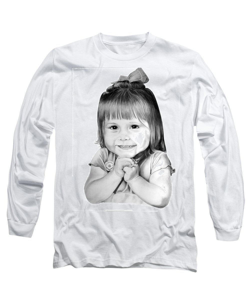 Child Long Sleeve T-Shirt featuring the drawing Little Bailey by Murphy Elliott