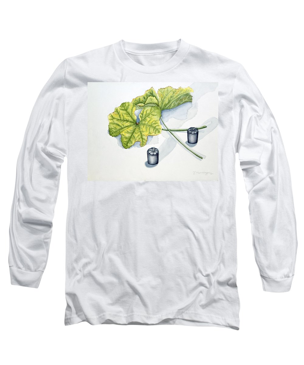 Candles Long Sleeve T-Shirt featuring the painting Little Black Candles by Judy Henninger