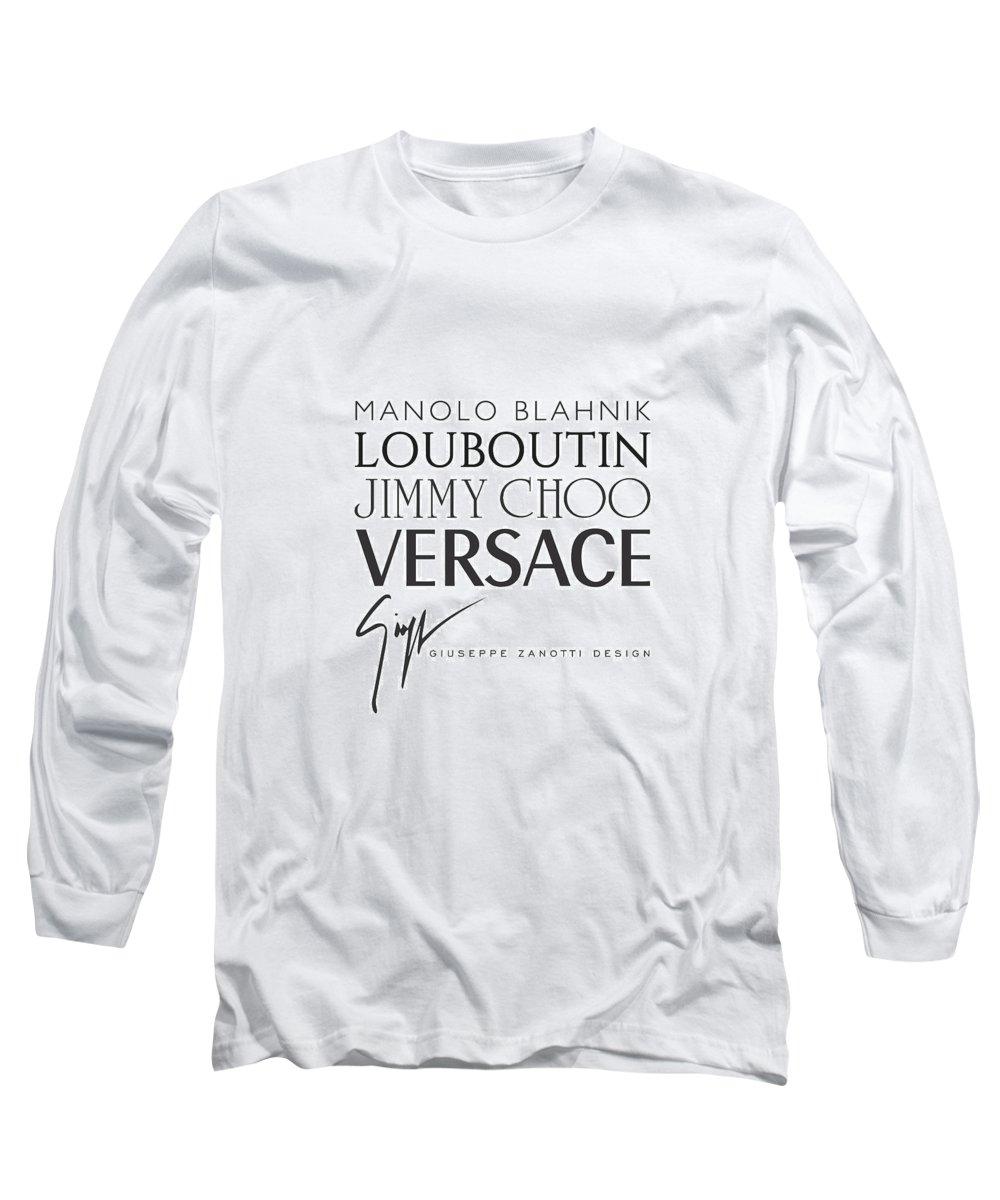 3e7da577 Manolo Blahnik Long Sleeve T-Shirt featuring the digital art Louboutin,  Versace, Jimmy