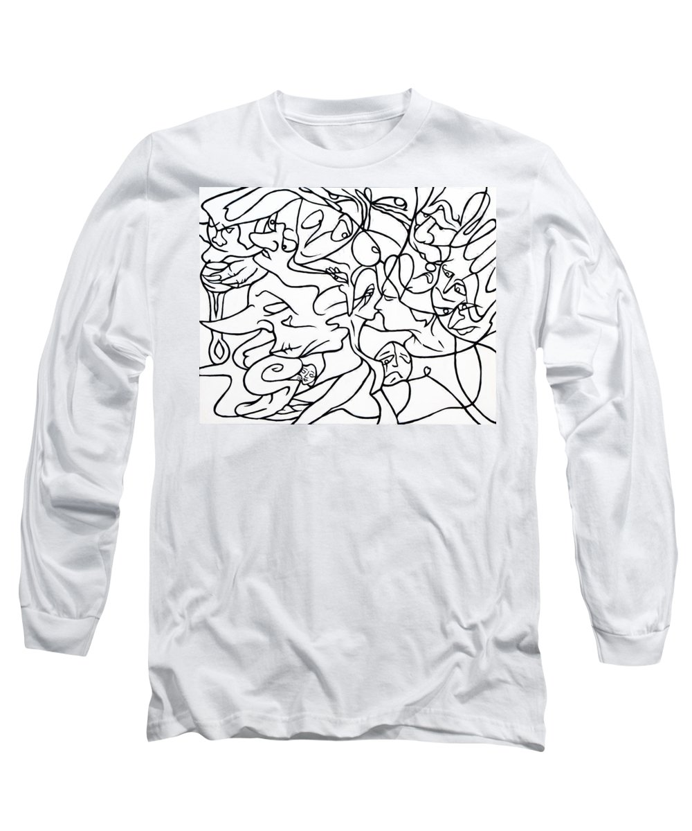 Love Long Sleeve T-Shirt featuring the painting Love Potion by Judy Henninger