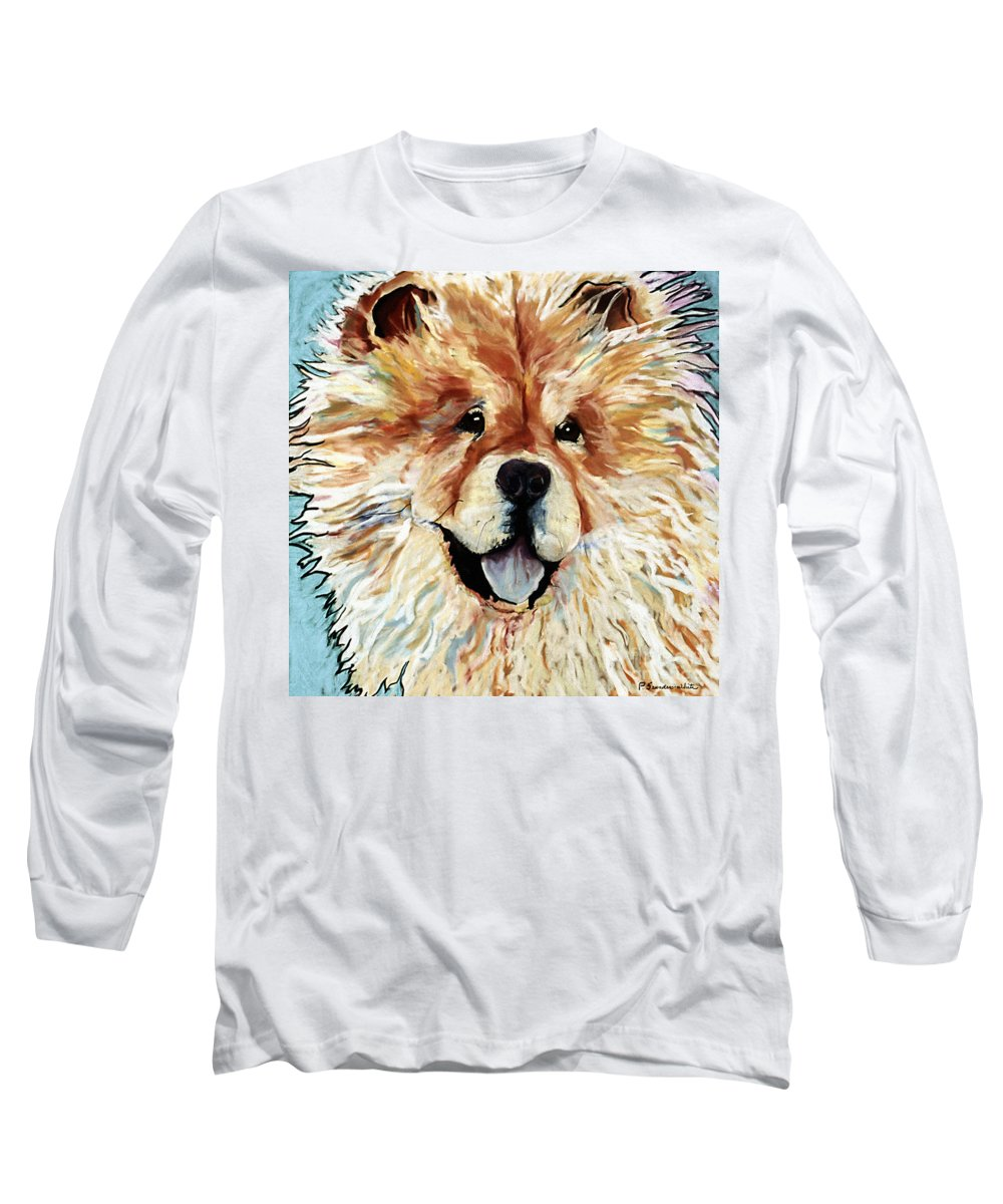Chow Chow Long Sleeve T-Shirt featuring the pastel Madame Chu Cho by Pat Saunders-White