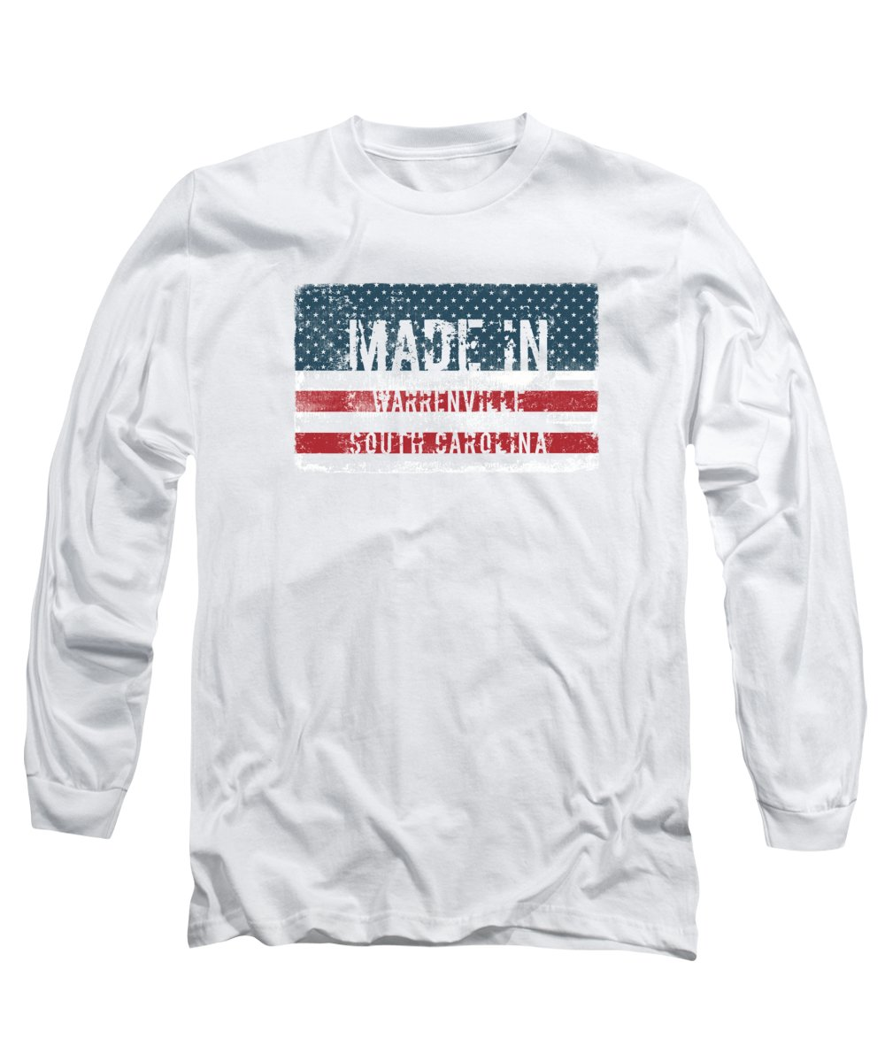 Warrenville Long Sleeve T-Shirt featuring the digital art Made In Warrenville, South Carolina by Tinto Designs