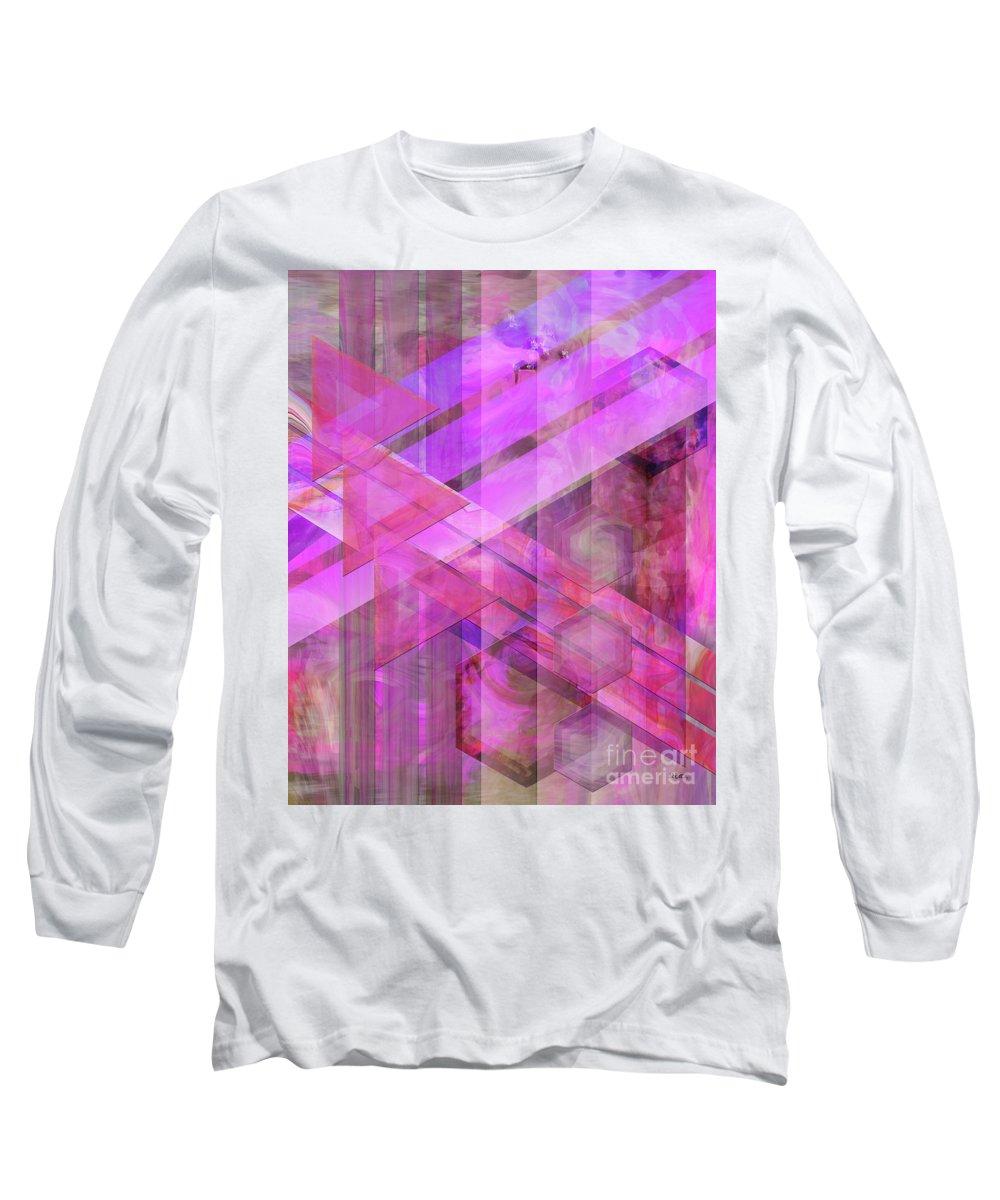 Magenta Haze Long Sleeve T-Shirt featuring the digital art Magenta Haze by John Beck