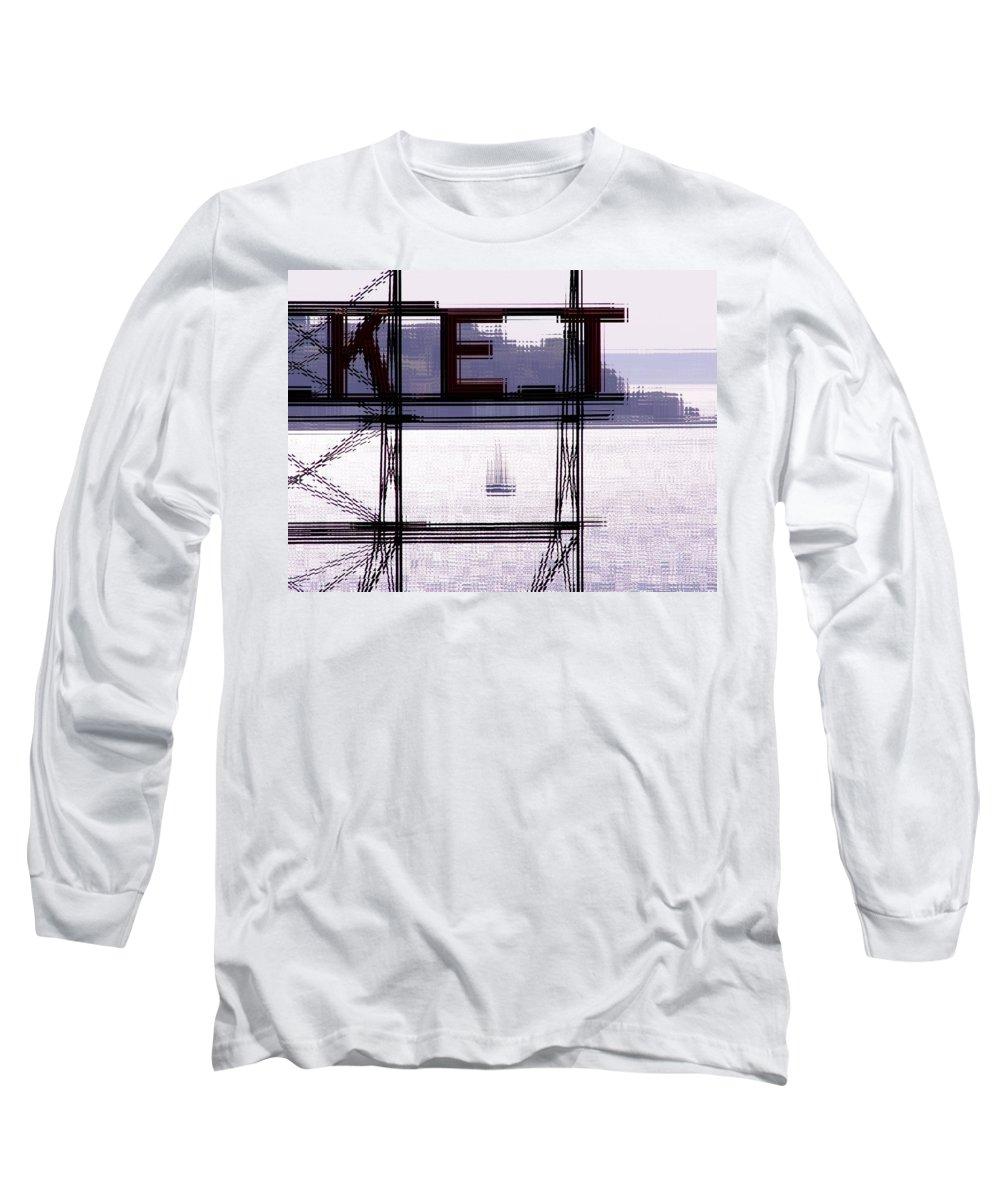 Seattle Long Sleeve T-Shirt featuring the digital art Market Sail by Tim Allen