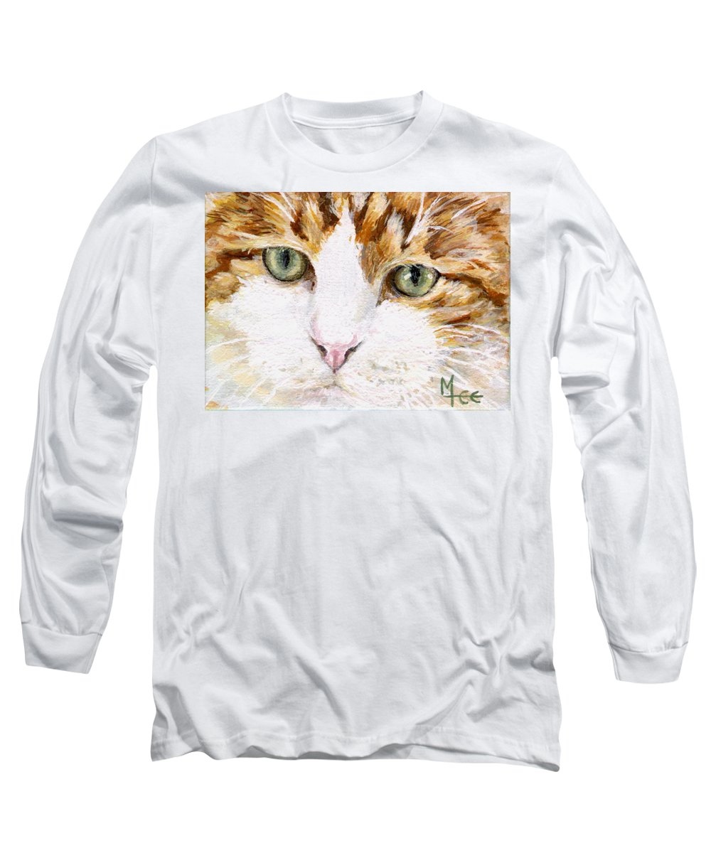 Charity Long Sleeve T-Shirt featuring the painting Max by Mary-Lee Sanders