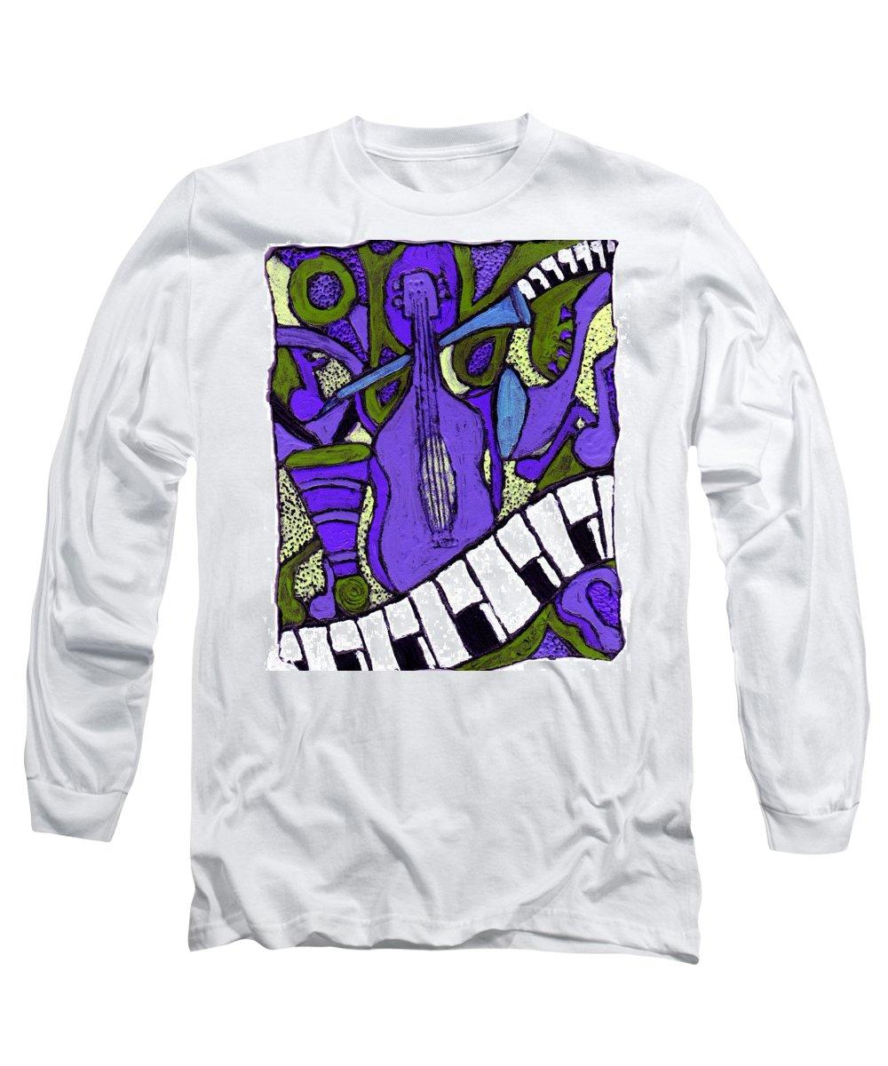Jazz Long Sleeve T-Shirt featuring the painting Melllow Jazz by Wayne Potrafka