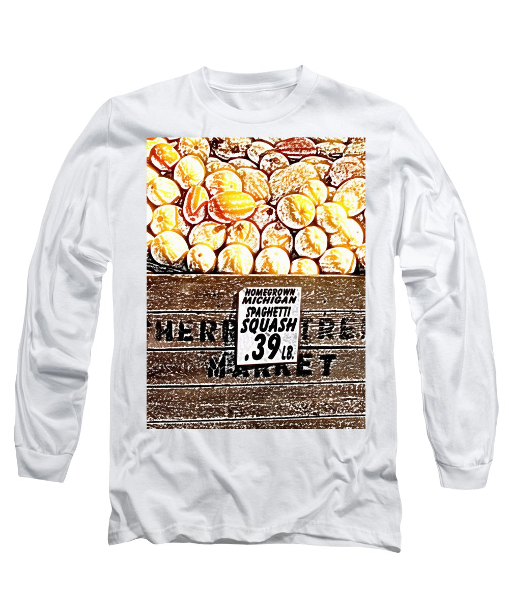 Altered Long Sleeve T-Shirt featuring the photograph Michigan Squash For Sale by Wayne Potrafka
