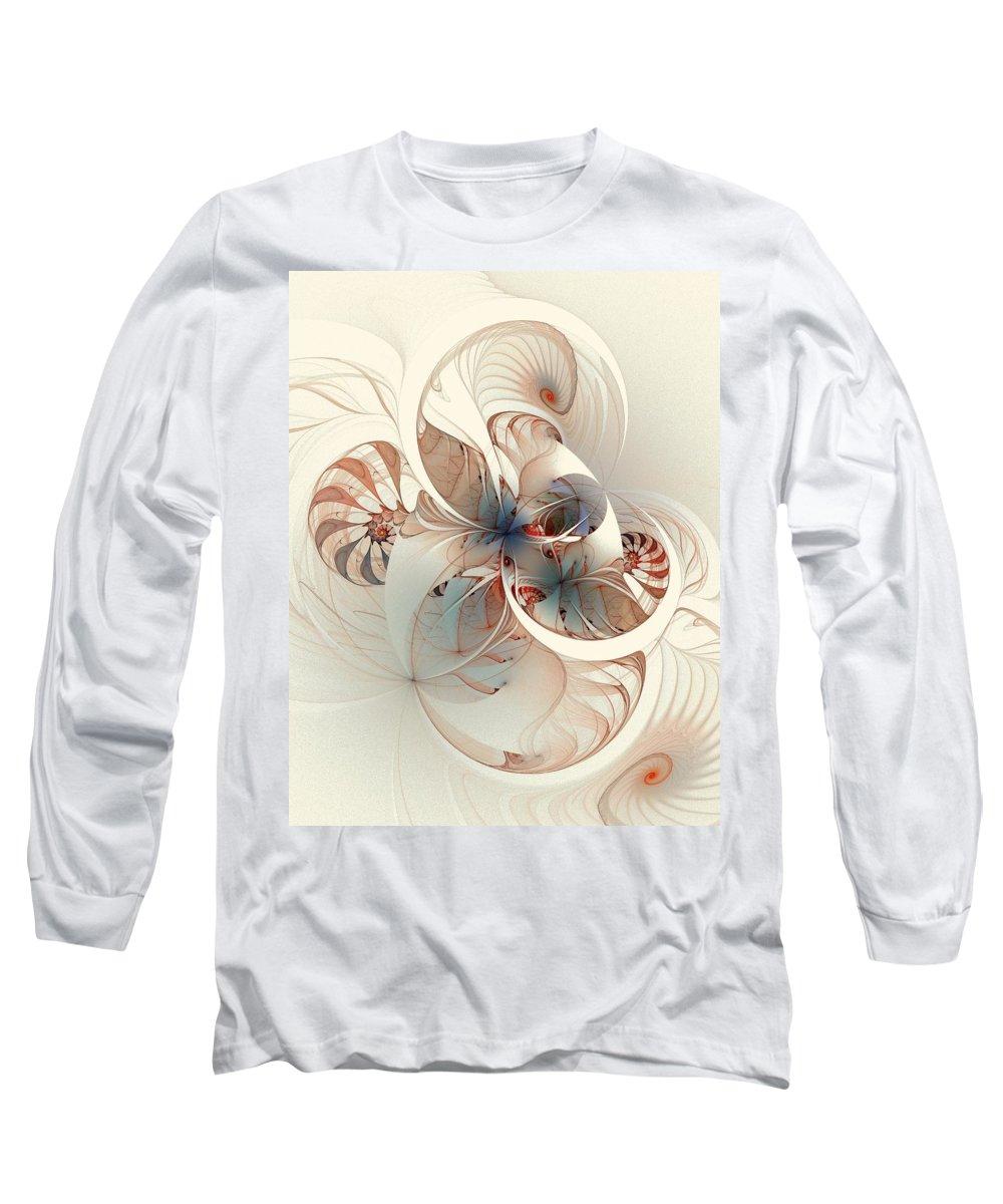 Long Sleeve T-Shirt featuring the digital art Mollusca by Amanda Moore