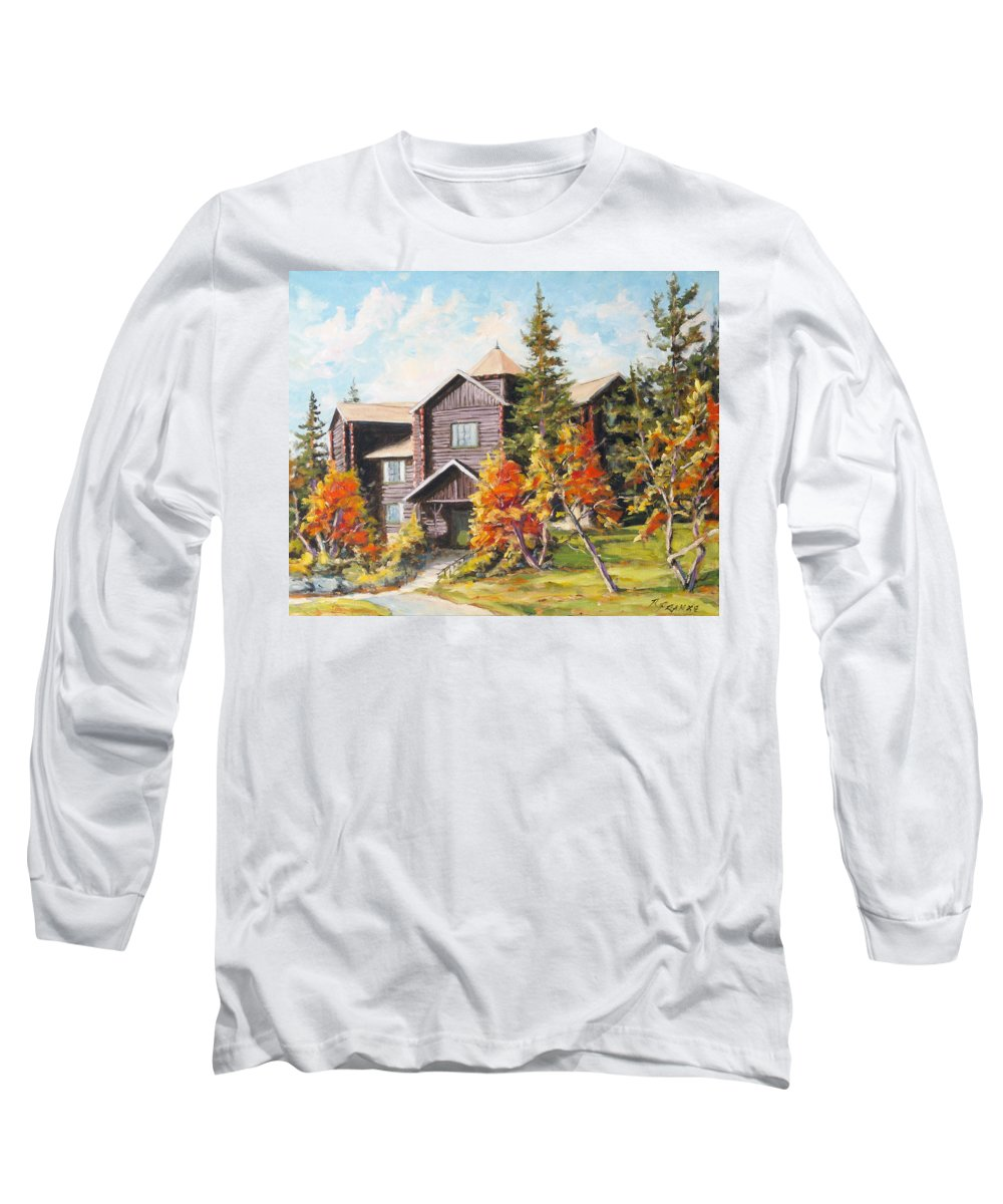 Landscape Long Sleeve T-Shirt featuring the painting Montebello by Richard T Pranke