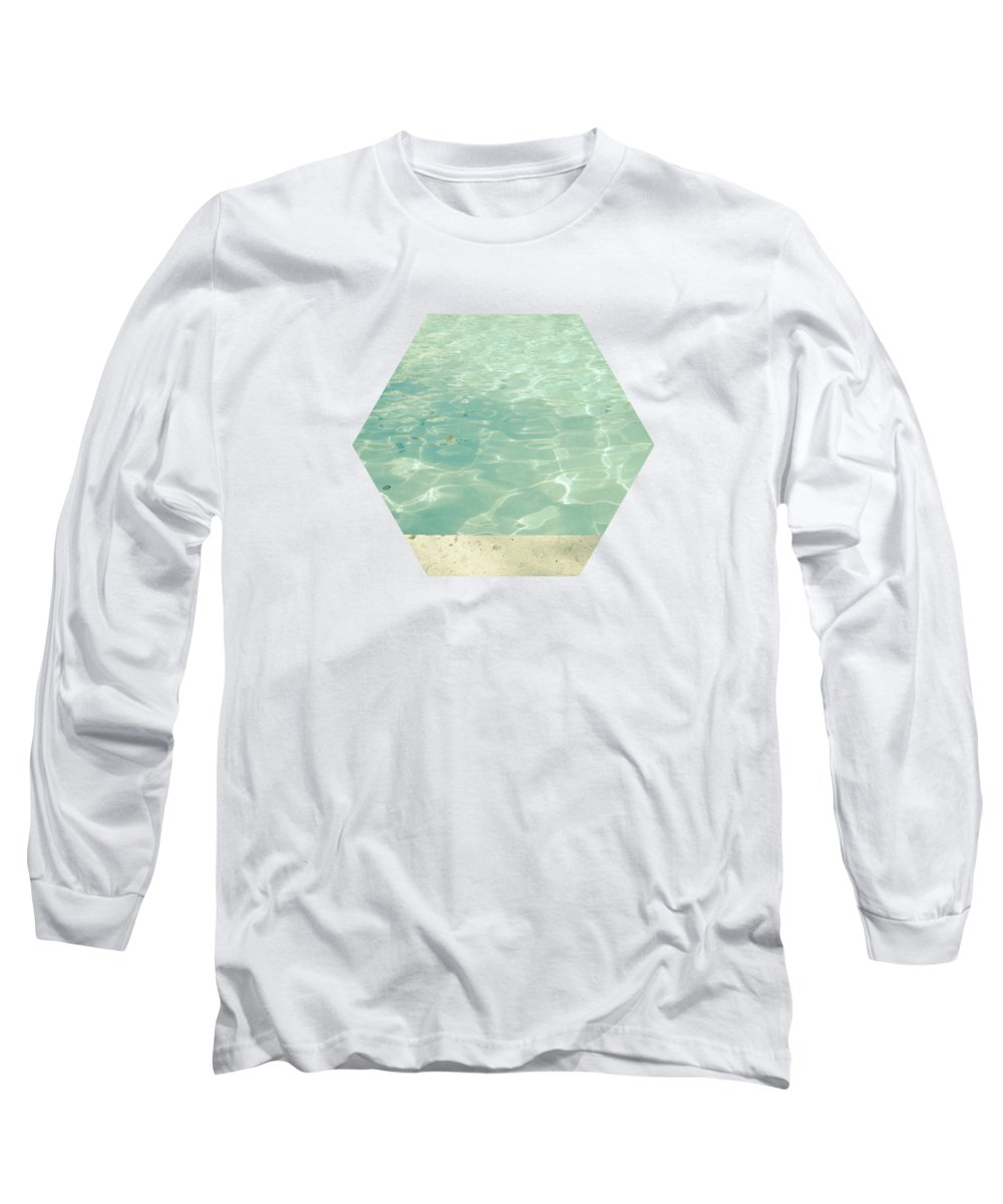 Swimming Pool Long Sleeve T-Shirt featuring the photograph Morning Swim by Cassia Beck