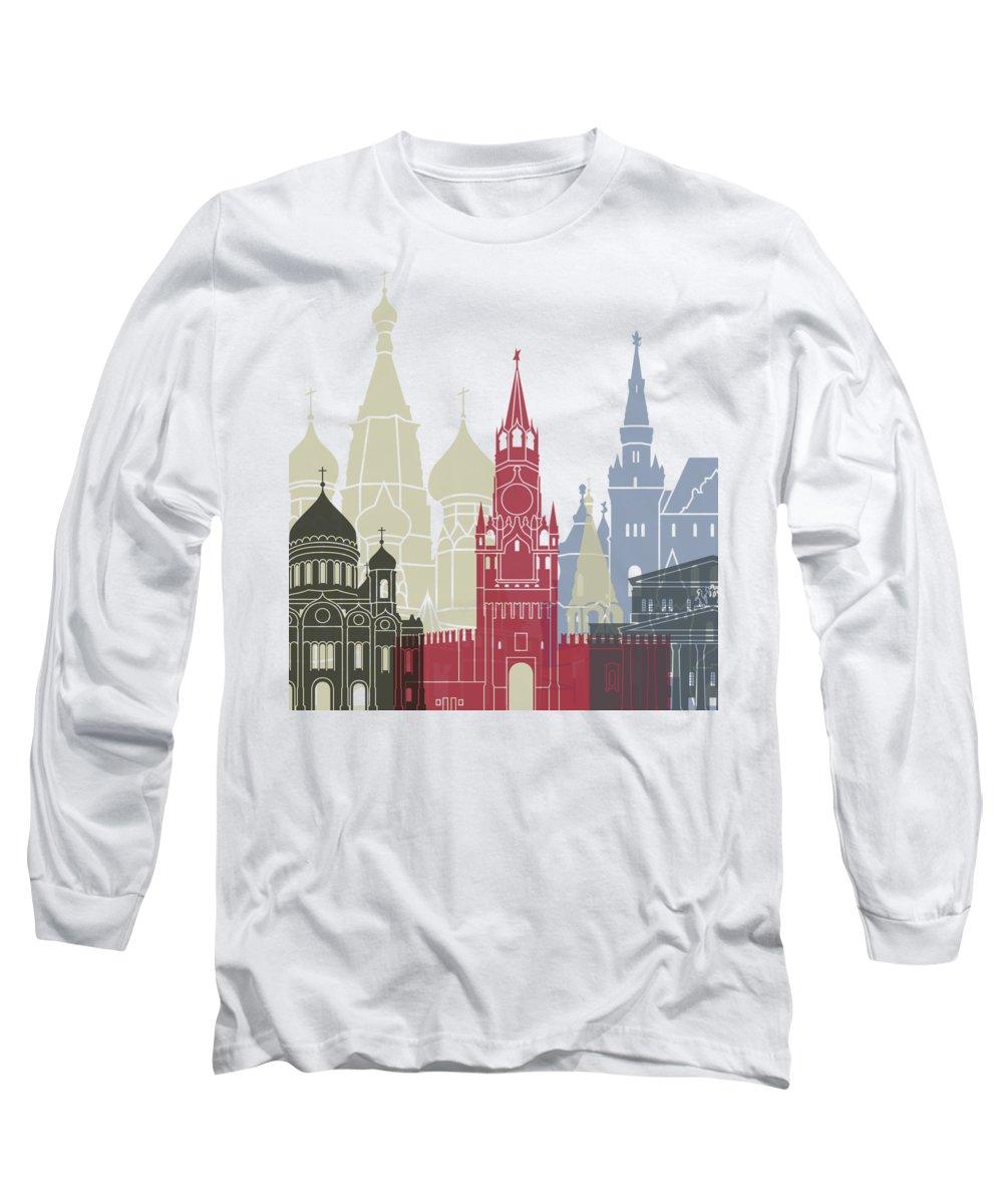 Moscow Skyline Long Sleeve T-Shirts