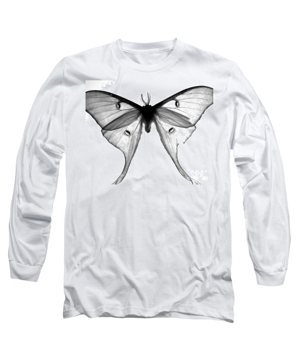 Moth Long Sleeve T-Shirt featuring the photograph Moth by Amanda Barcon