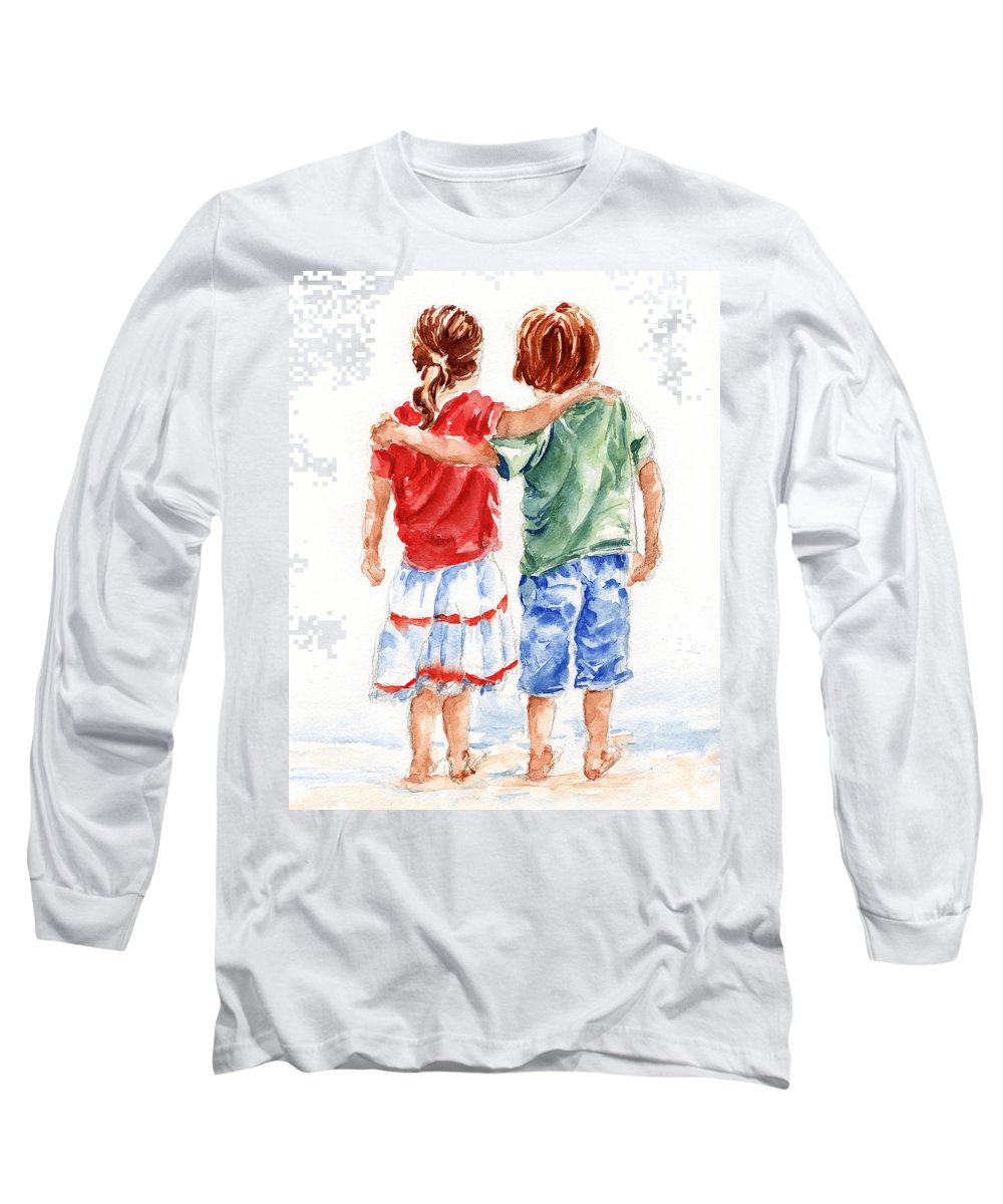 Watercolour Long Sleeve T-Shirt featuring the painting My Friend by Stephie Butler