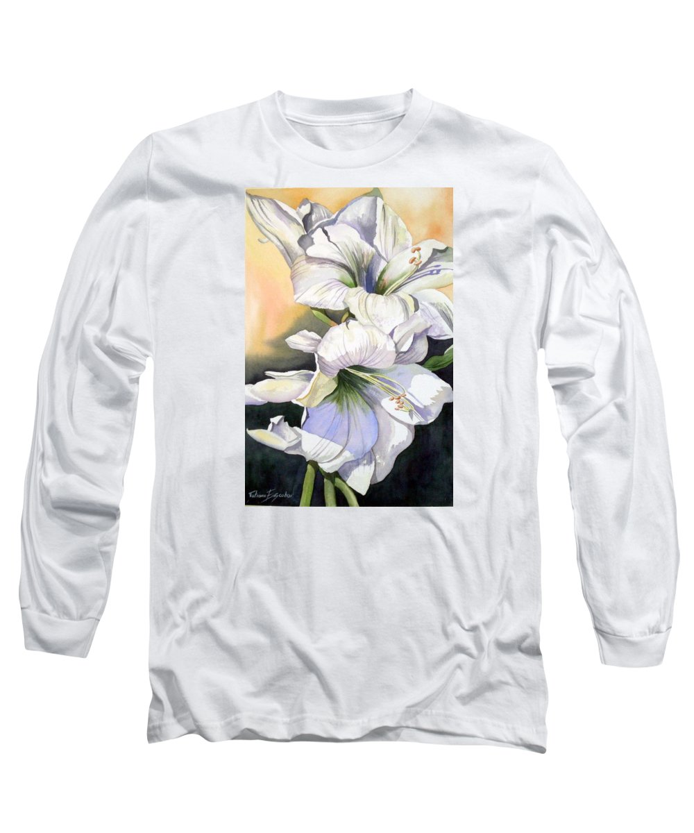 Flower Long Sleeve T-Shirt featuring the painting My Love by Tatiana Escobar