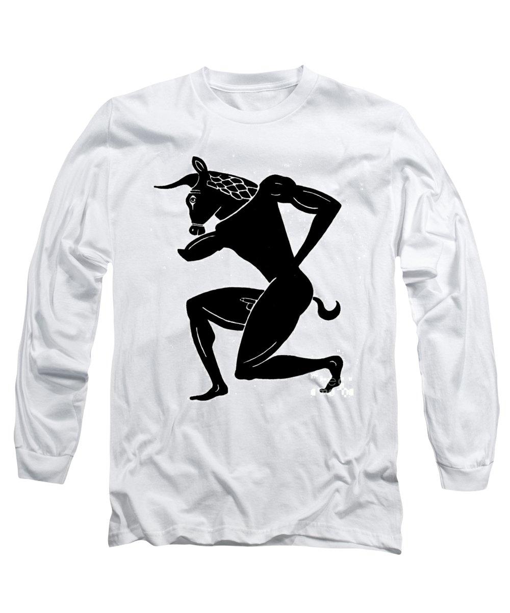 5th Century B.c Long Sleeve T-Shirt featuring the photograph Mythology: Minotaur by Granger