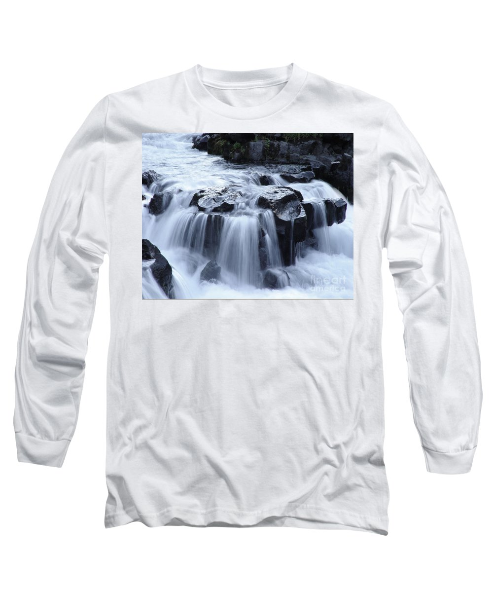 Waterfall Long Sleeve T-Shirt featuring the photograph Natural Bridges Falls 02 by Peter Piatt
