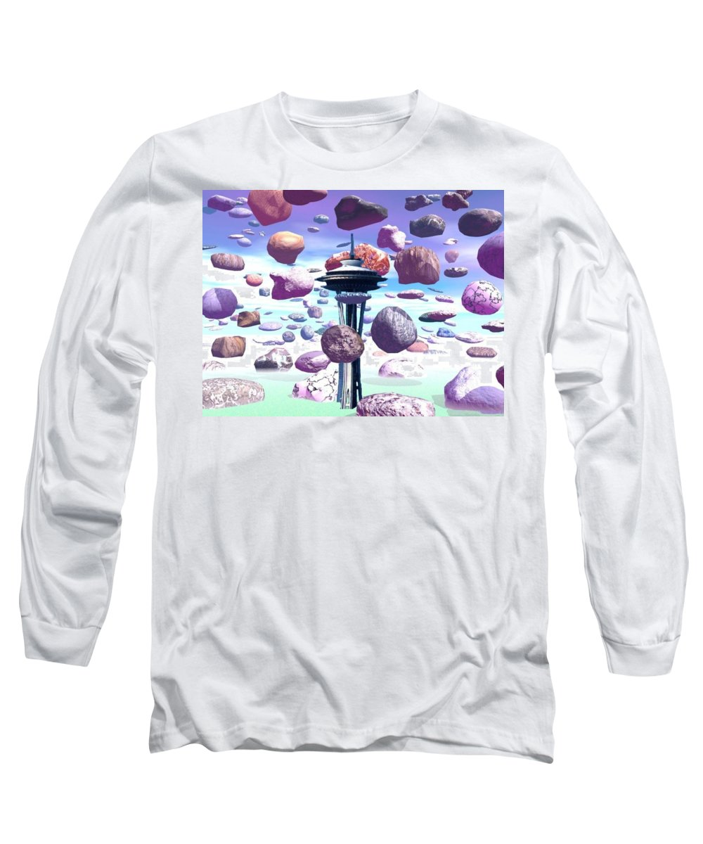 Seattle Long Sleeve T-Shirt featuring the photograph Needle Rocks by Tim Allen