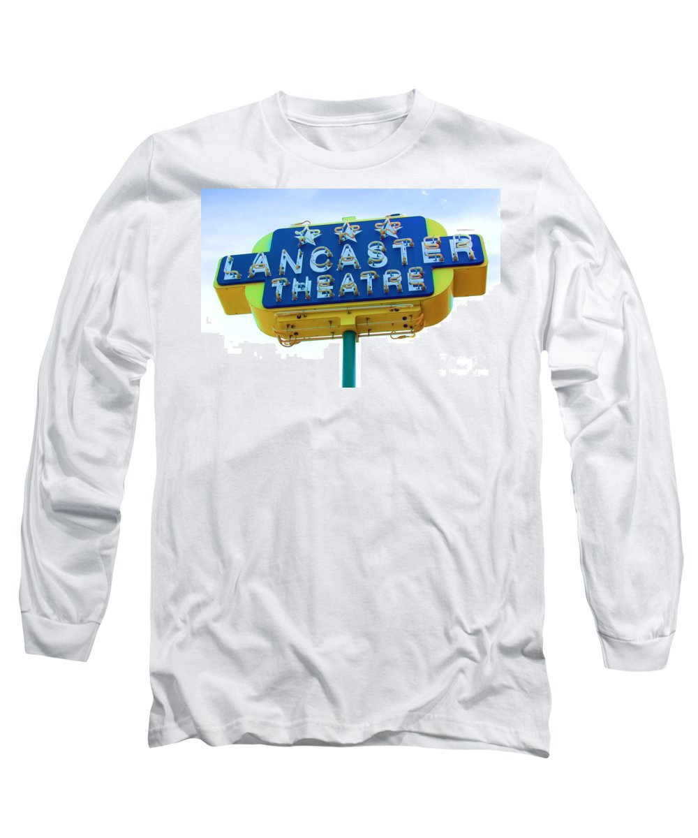 Sign Long Sleeve T-Shirt featuring the photograph Neon by Debbi Granruth