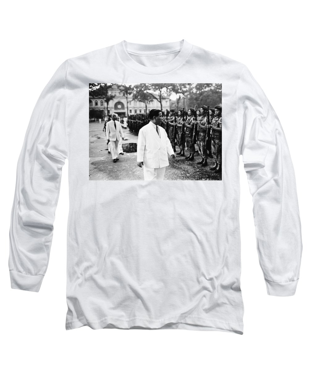 1963 Long Sleeve T-Shirt featuring the photograph Ngo Dinh Diem (1901-1963) by Granger