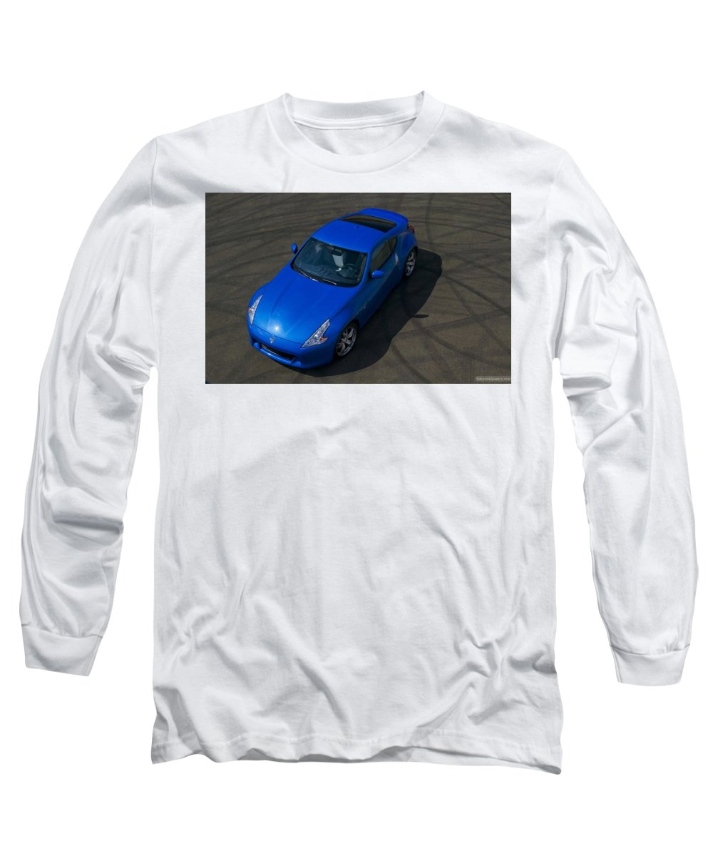 Nissan 370z Coupe 2012 Long Sleeve T-Shirt featuring the digital art Nissan 370z Coupe 2012 by Mery Moon