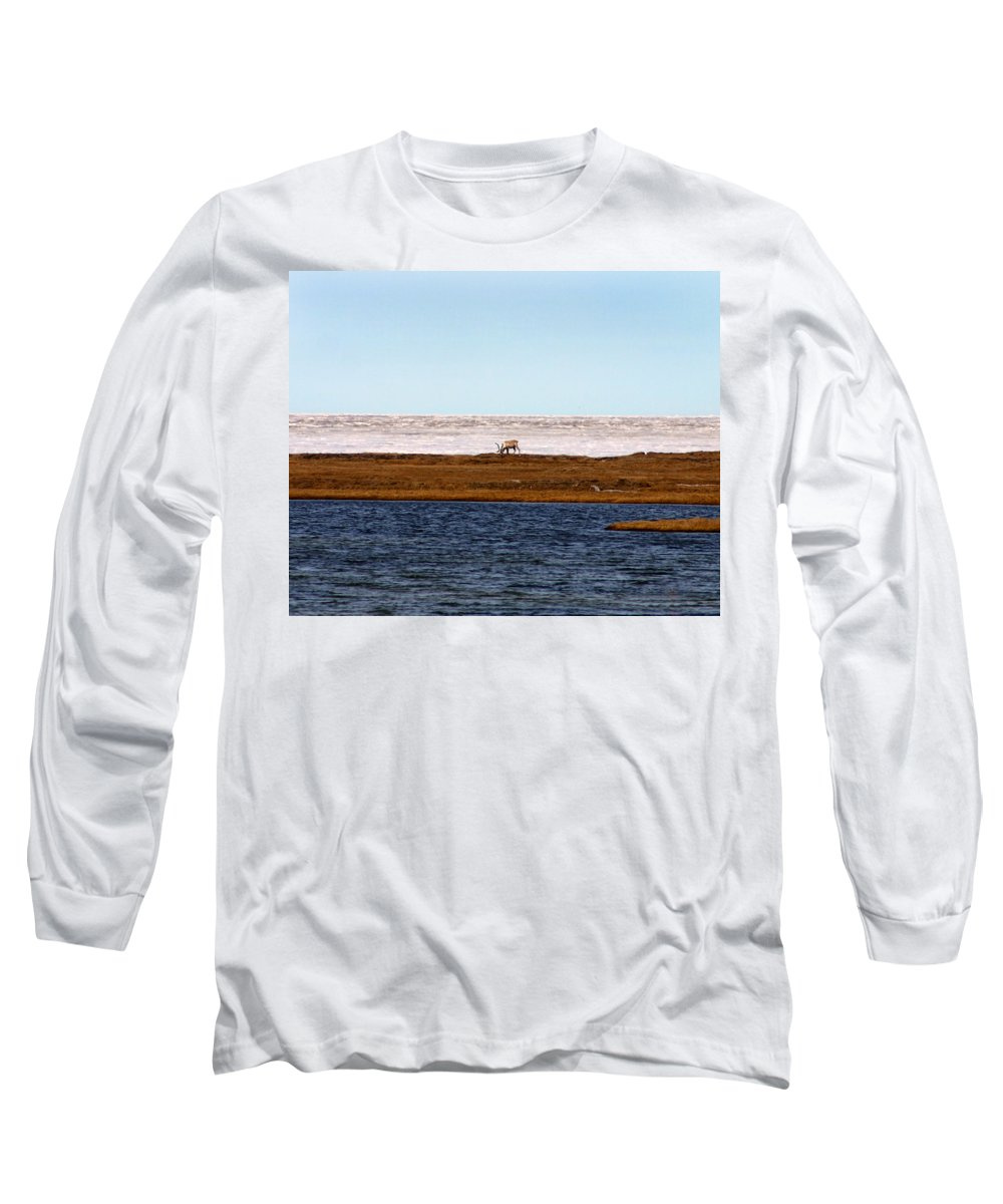 Arctic Long Sleeve T-Shirt featuring the photograph North Slope by Anthony Jones