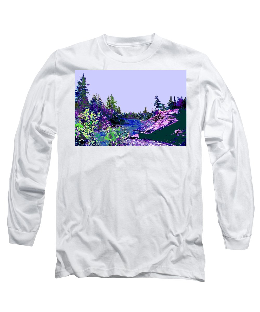 Norlthern Long Sleeve T-Shirt featuring the photograph Northern Ontario River by Ian MacDonald
