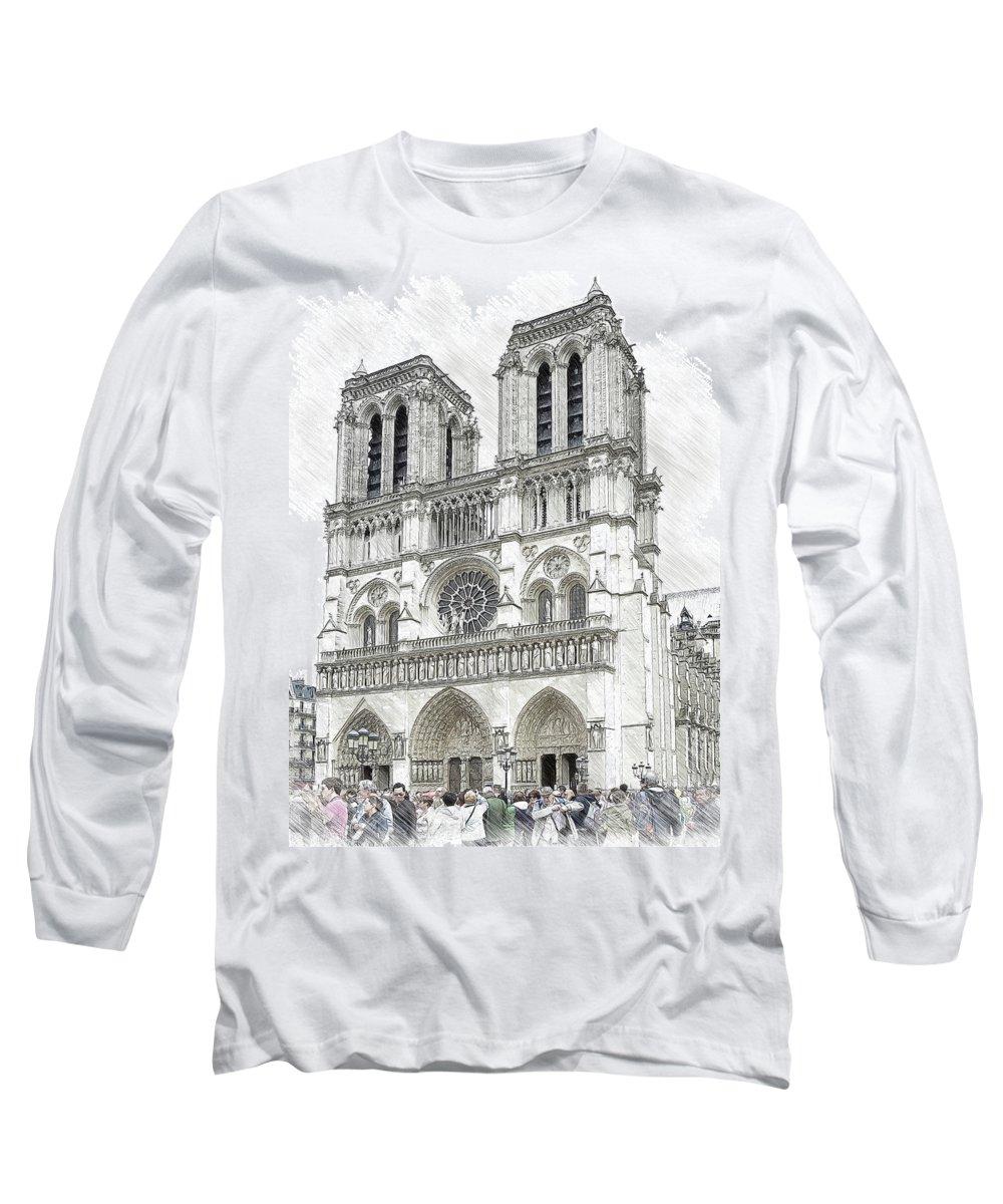Notre Dame De Paris In Paris France Illustration In Draw Ske