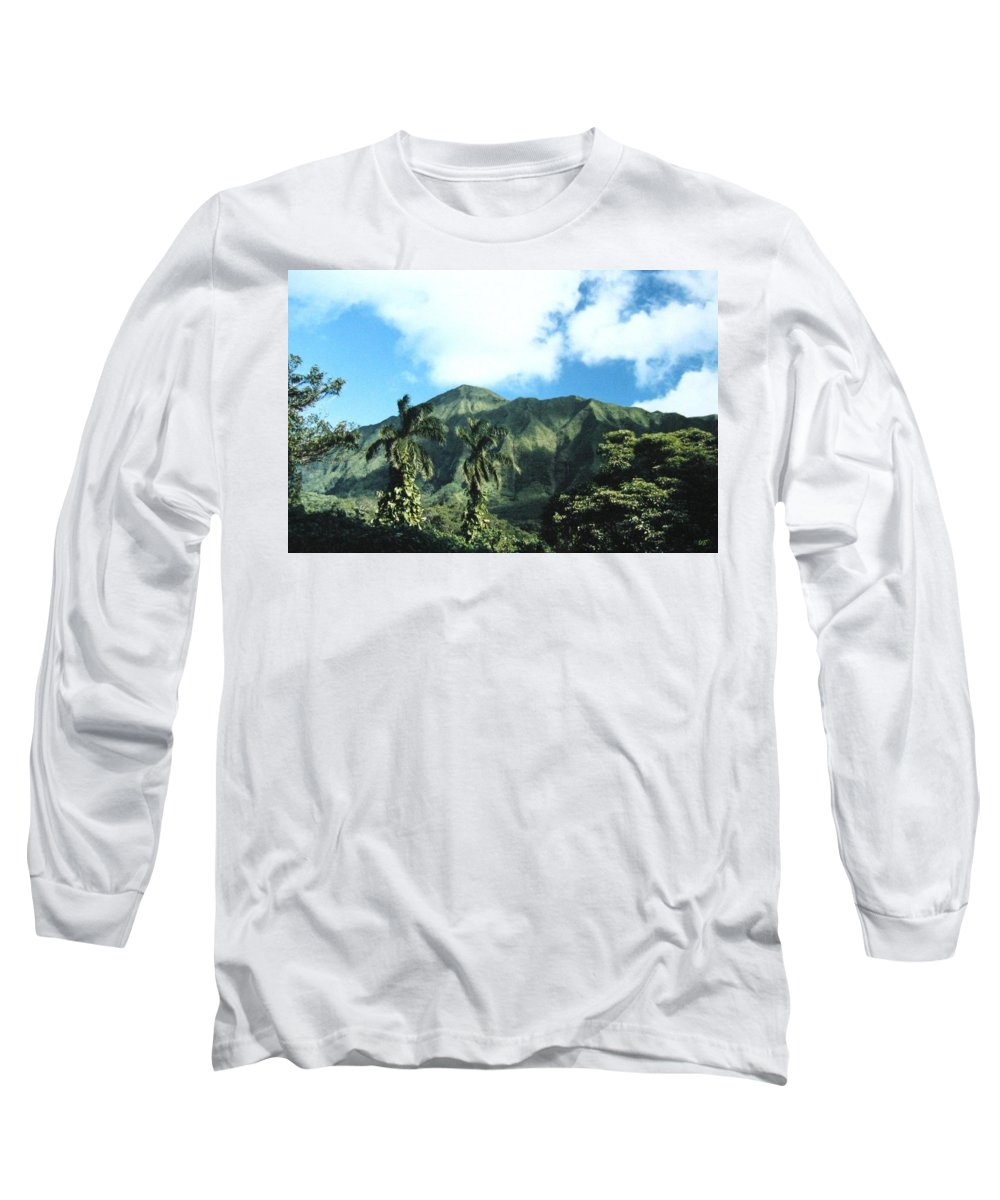 1986 Long Sleeve T-Shirt featuring the photograph Nuuanu Pali by Will Borden