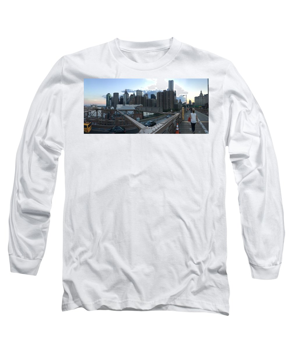 Long Sleeve T-Shirt featuring the photograph NYC by Ashley Torres