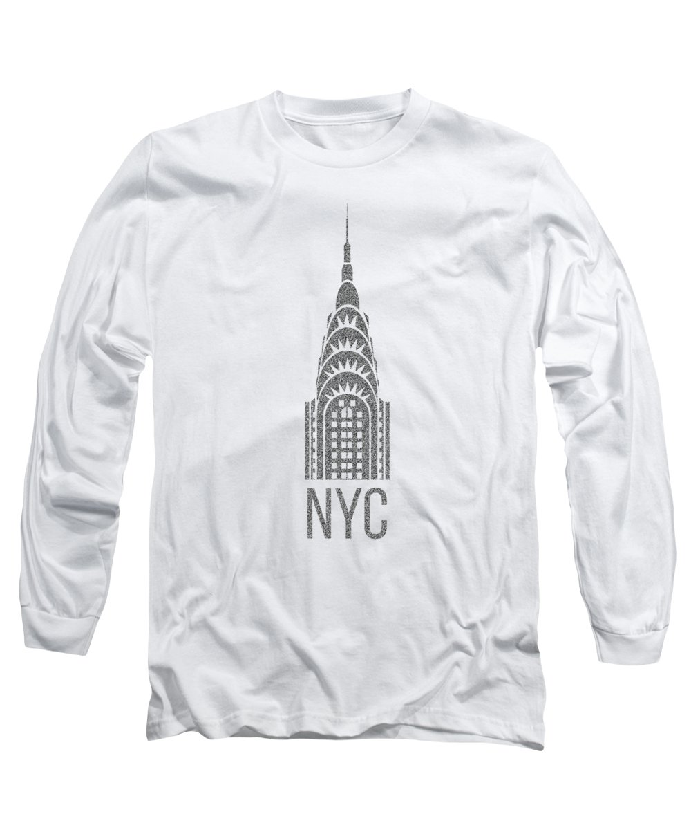 T-shirt Long Sleeve T-Shirt featuring the digital art Nyc New York City Graphic by Edward Fielding
