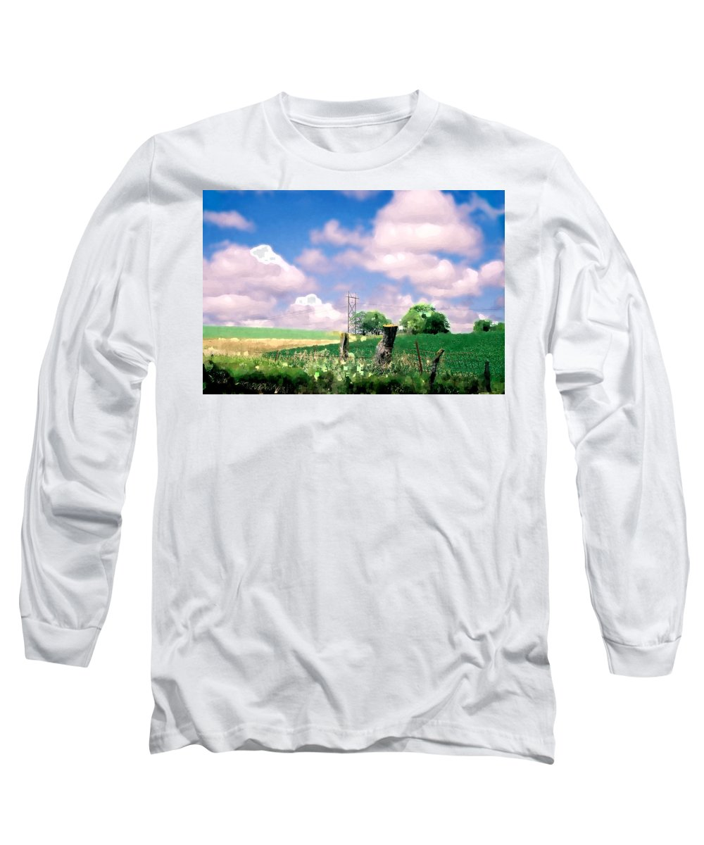 Landscape Long Sleeve T-Shirt featuring the photograph Off The Grid by Steve Karol