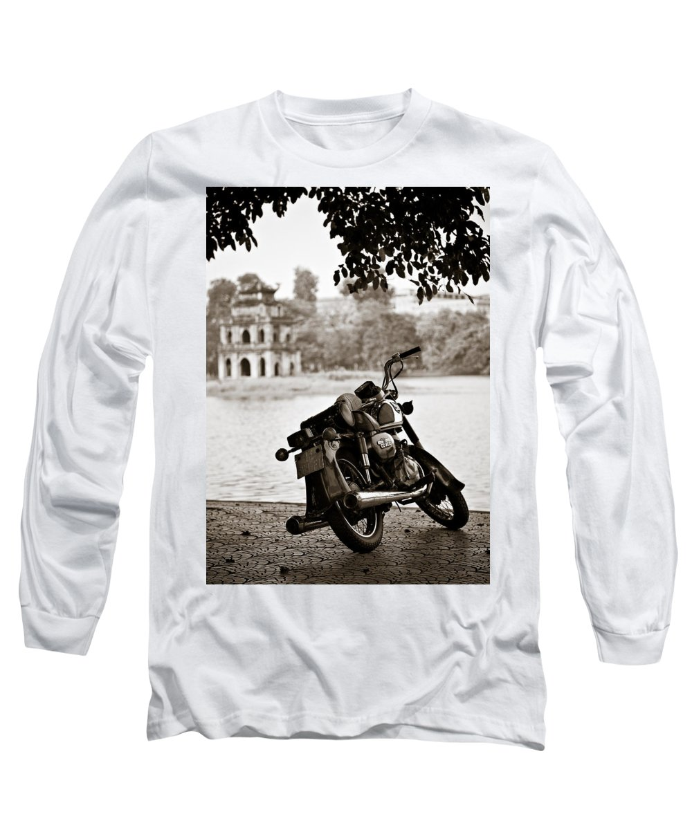 Honda Long Sleeve T-Shirt featuring the photograph Old Honda by Dave Bowman
